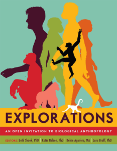 A book cover titled Explorations An open invitation to biological anthropology